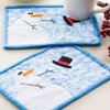 Let It Snow -- Windy Day Mug Rug