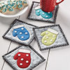 Small & Scrappy -- Woolly Mittens Coaster Set