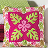 Tradition With a Twist -- Tropical Flower Pillow