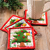 Little Packages -- O Christmas Tree Coaster Set