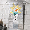 Done in One -- Star Snowman Mini Wall Hanging